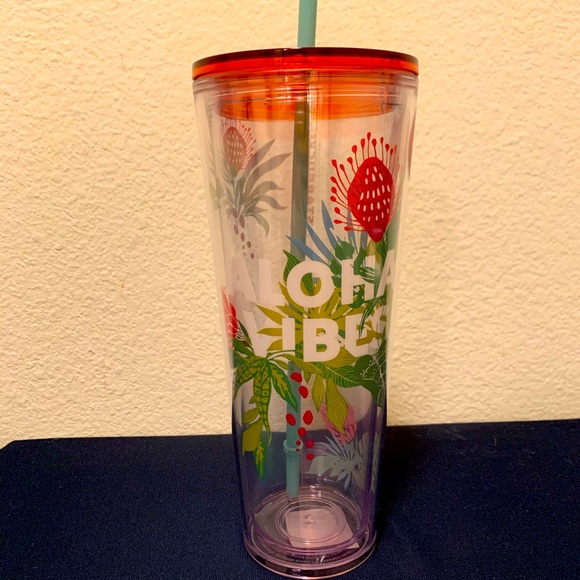 """New Hawaii Edition Starbucks """"Aloha Vibes"""" 24 oz"""